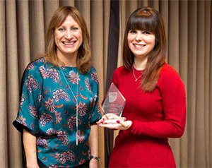 Annette Allmark, Head of Apprenticeships at BCS and Hannah Surry 1000th Digital Apprentice