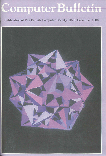 December 1980 Computer Bulletin cover