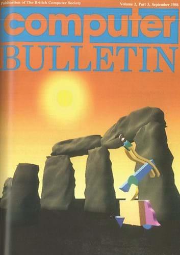 September 1986 Computer Bulletin cover