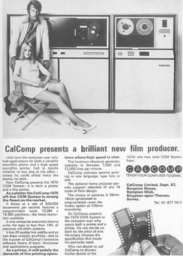 Calcomp ad (1970s)