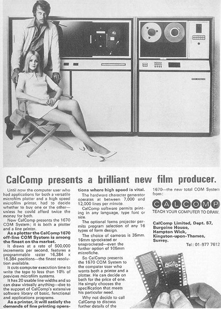 Calcomp ad (1970s)