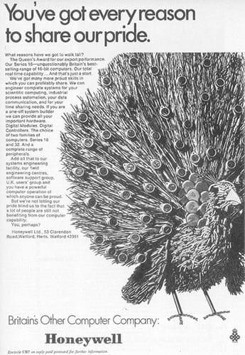Honeywell Peacock ad (1970s)