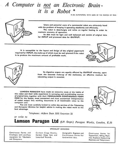 Lamson Paragon Ltd ad (1950s)