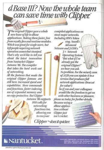 Clipper Cricket ad (1980s)