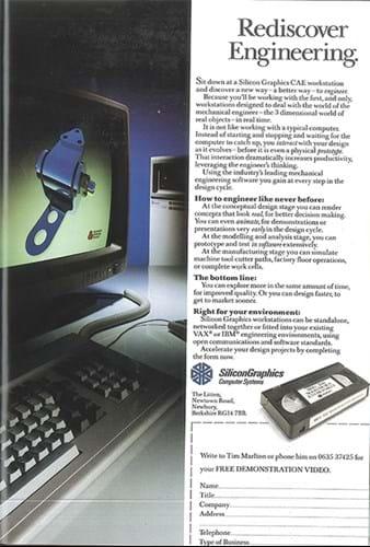 Silicon Graphics ad (1980s)