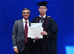 Mohamed Altaf Presenting The Final Year Student Prize To Tsz Liu Yam From Brunel University
