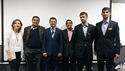 Left to right Liz Sokolowski, Manoj Nambiar, Sri Akunuri, Ram Kundnani, Amit Amlani and Rizwan Ghauri