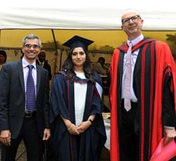 L to R: Altaf Mohamed, Anisha Karim and Professor Martin Sheperd