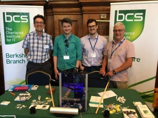 From left to right, the photo shows Mike Buckland from BCS Berkshire, Ashley Larking and Nick Phillips from BCS HQ, and team leader Chris Todd-Davies from BCS Berkshire.