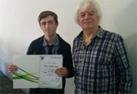 Daniel Knight - Kent Branch Student Prize Winner 2018