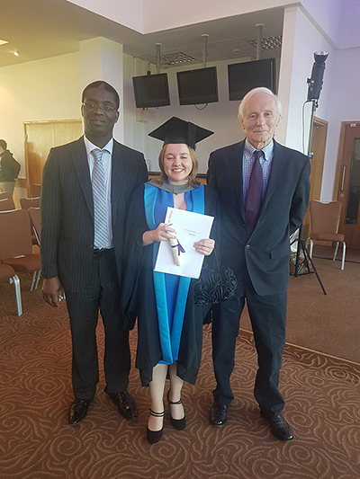 Sam Ofori-Sey, Joanna Wild and Jim McLean