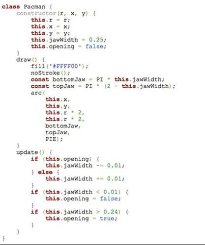 Pacman Class Code