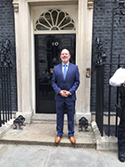 Paul Fletcher, BCS CEO, outside Number 10 Downing Street