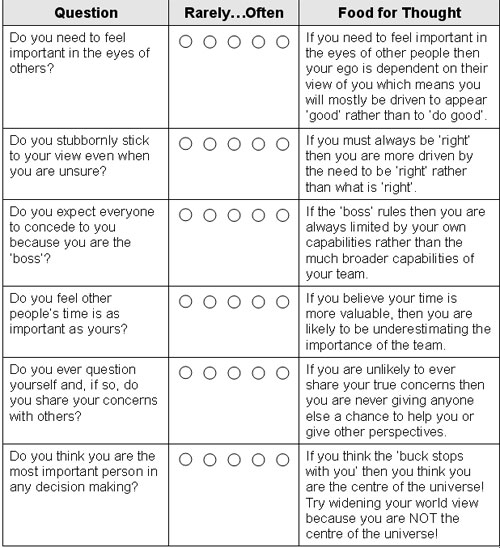 Are you an ego leader survey