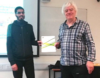 Student winner Abdul Moeed (Computing, University of Kent at Medway)