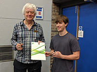 Student winner Jay Richards (Computer Science, University of Kent at Canterbury)