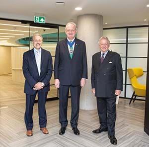 Left to right, Rob Deri, Lord Mayor, Michael Grant
