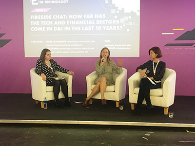 Jenna Griffin at European Women in Tech event