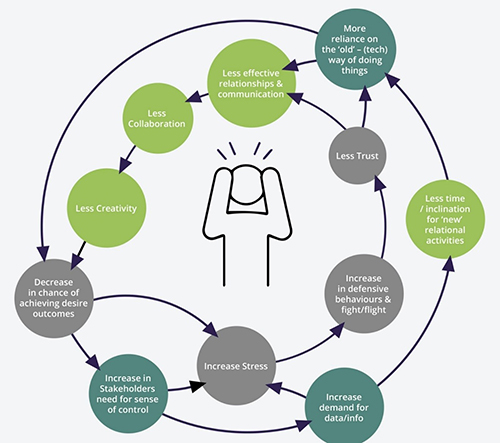 Project stress cycle diagram