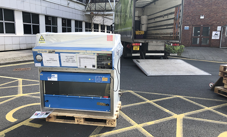 University Ventilator destined for the hospital wards.