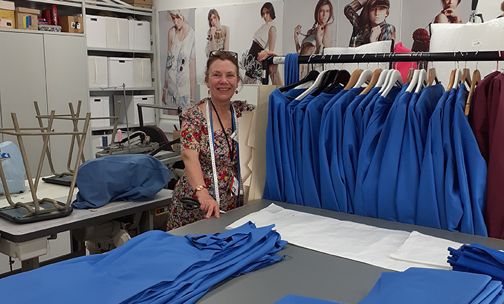 Fashion technicians produce garments for NHS.
